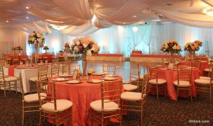Event Hall in Tampa: Classy Old Rose Theme