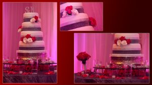 Red and Gray Wedding Reception in Tampa