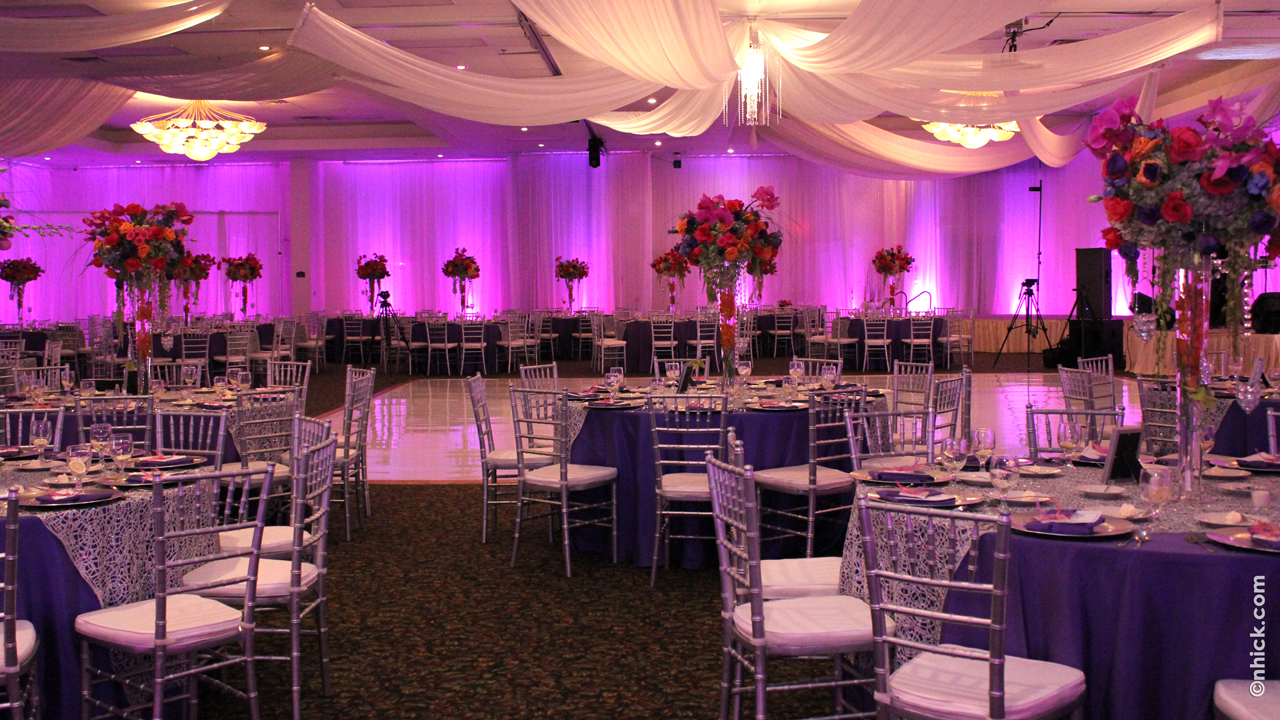 Arabian Nights hall setup at the Bayanihan Arts and Events Center used as a banquet hall in Tampa, Florida